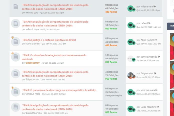 Redação Nota 1000  Redação Nota 1000: Projeto online corrige gratuitamente redações ao 'estilo' Enem forum enem