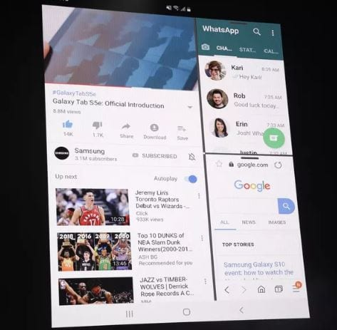 galaxy fold Galaxy Fold: O Smartphone dobrável da Samsung que vai custar quase R$8.000 Galaxy Foud