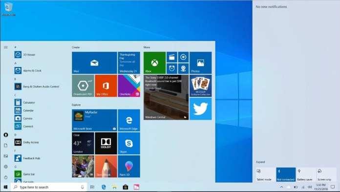 Windows 10 windows 10 Windows 10: 'Tema branco' e muitas outras novidades chegarão ao sistema no final de maio windows start white 1024x578