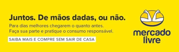 Mercado Livre muda logomarca para conscientizar sobre pandemia da Covid-19, doença causada pelo Coronavírus mercadolivre
