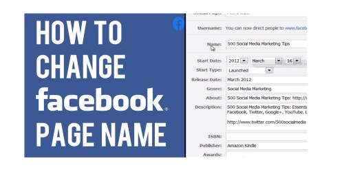 Changing Page Name on Facebook