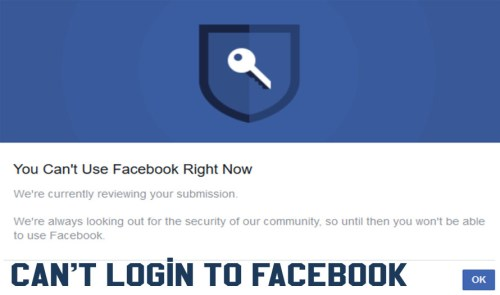 Can't Login To Facebook