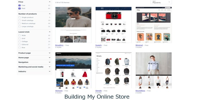 Building My Online Store