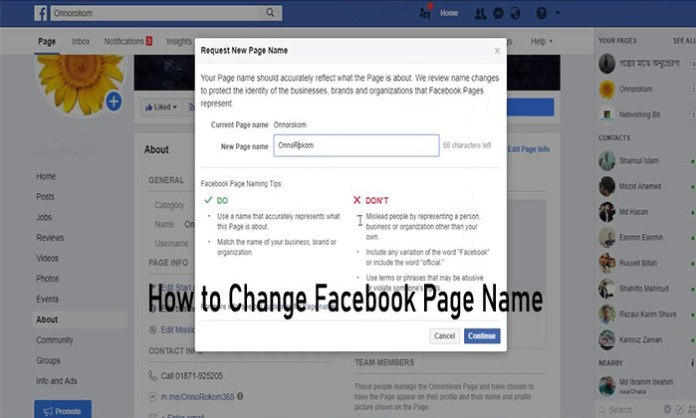 How to Change Facebook Page Name - Facebook Page Editing | Changing Page Name on Facebook