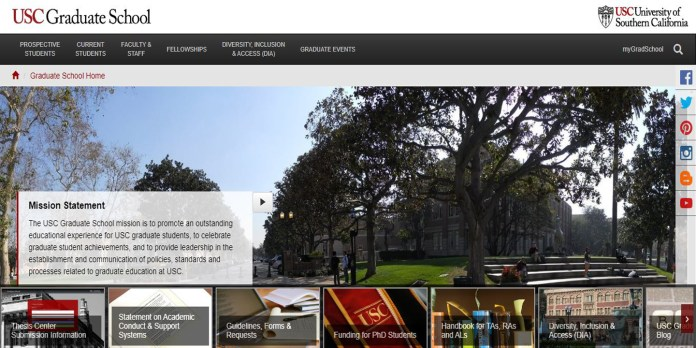 USC Graduate Programs