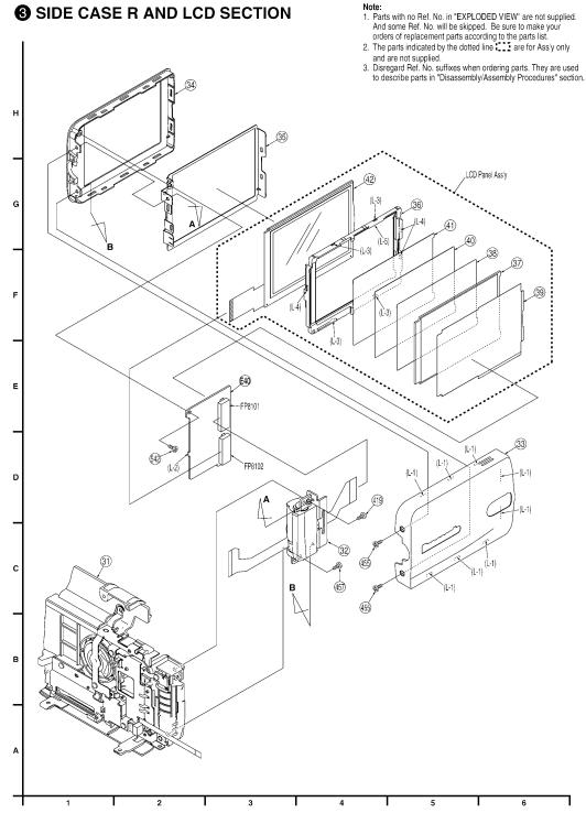 LSXY0763 FLAT CABLE ORIGINALE COMPLETA DI SNODO/CERNIERA