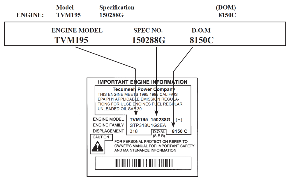 medium resolution of tecumseh engine identification pre 2004 models
