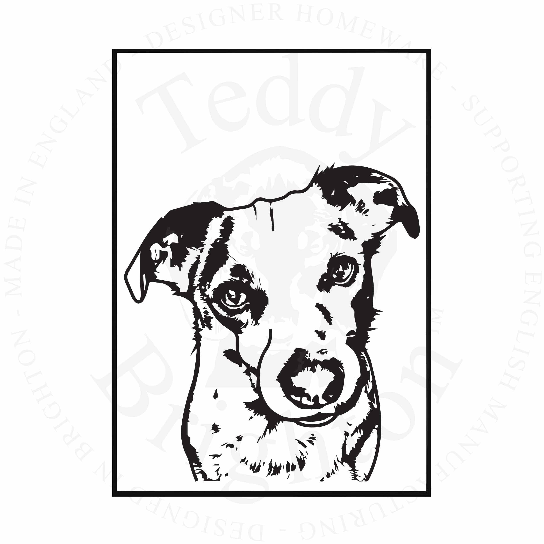 Jack Russell Illustration Dog041