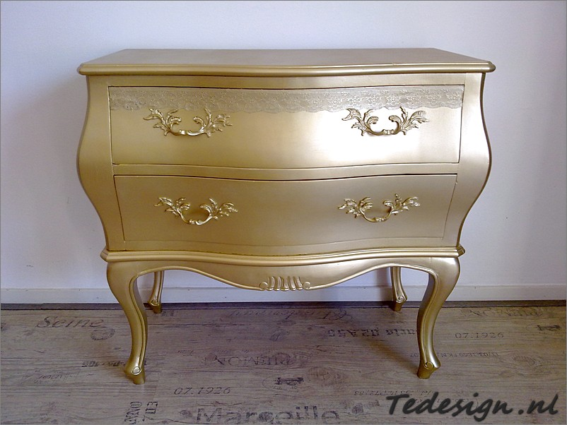 Gouden barok ladenkast nu 159 Gratis thuisbezorgd