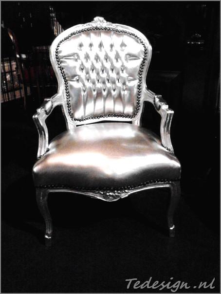 zilveren barok stoel