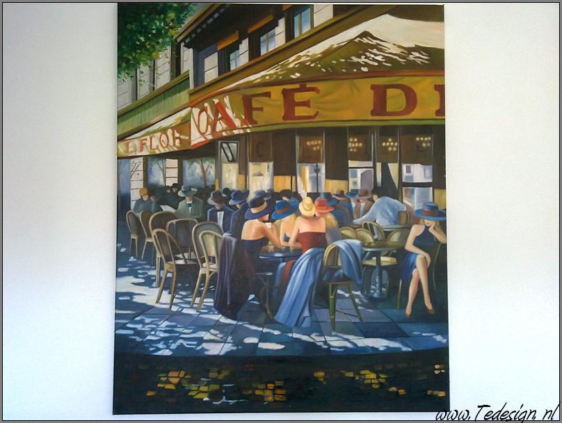 Terras Schilderij 105x85 Gratis thuisbezorgd