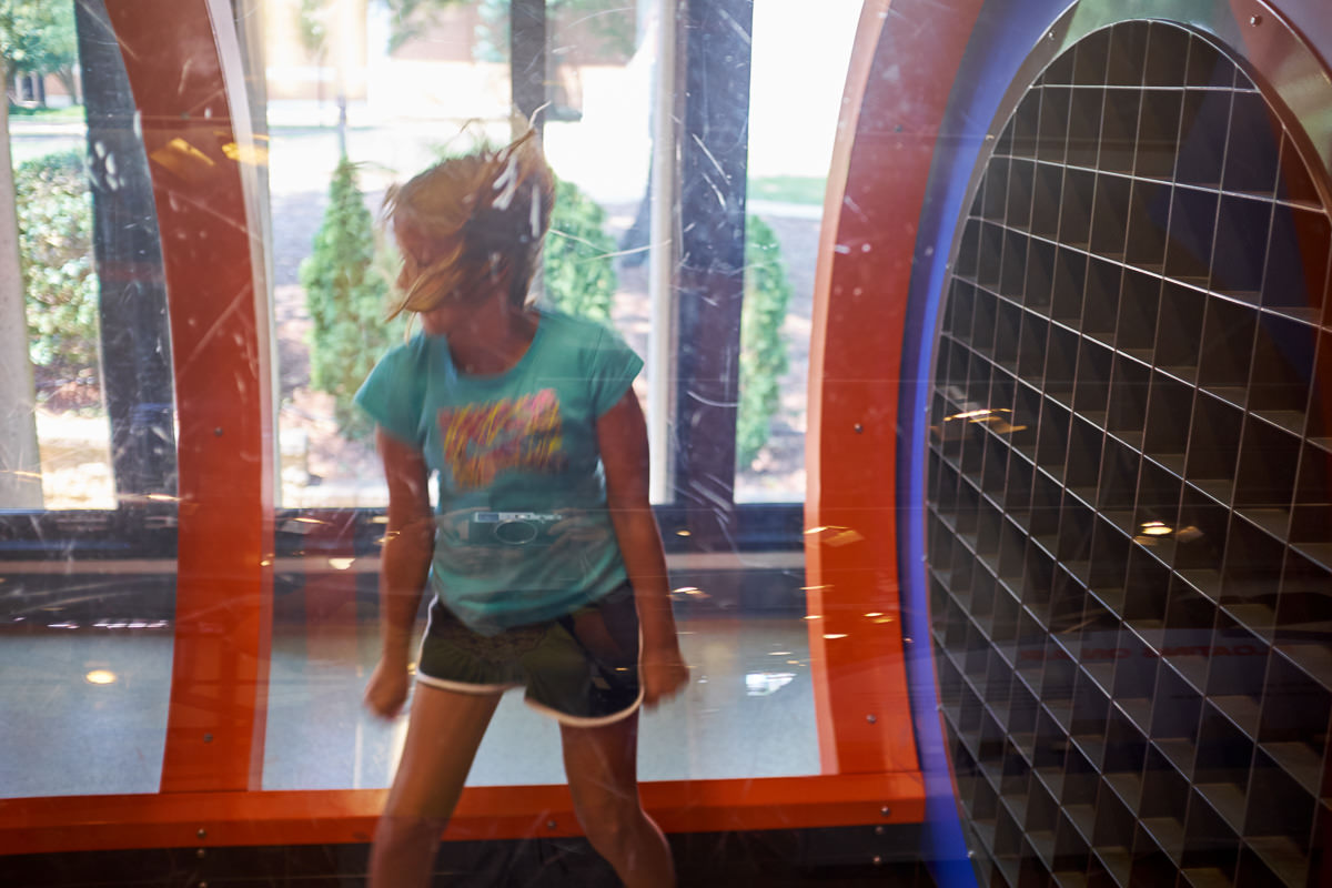 Aly enjoying the wind tunnel