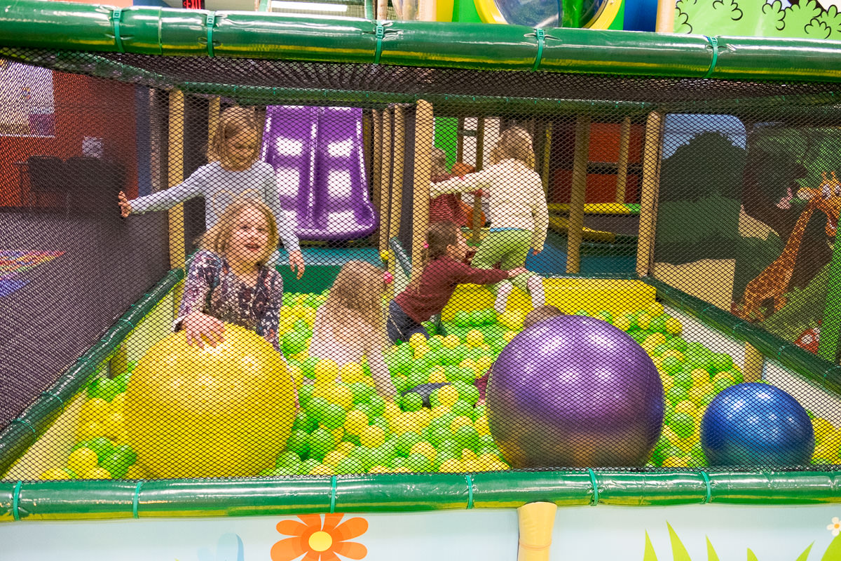 Being near the ball pit was a bit overstimulating - for me