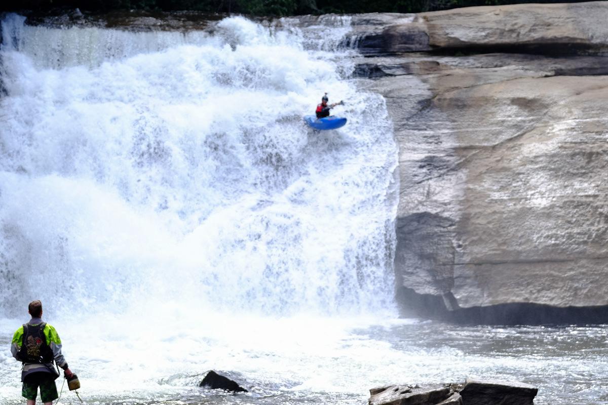Kayaking Triple Falls at DuPont State Forest