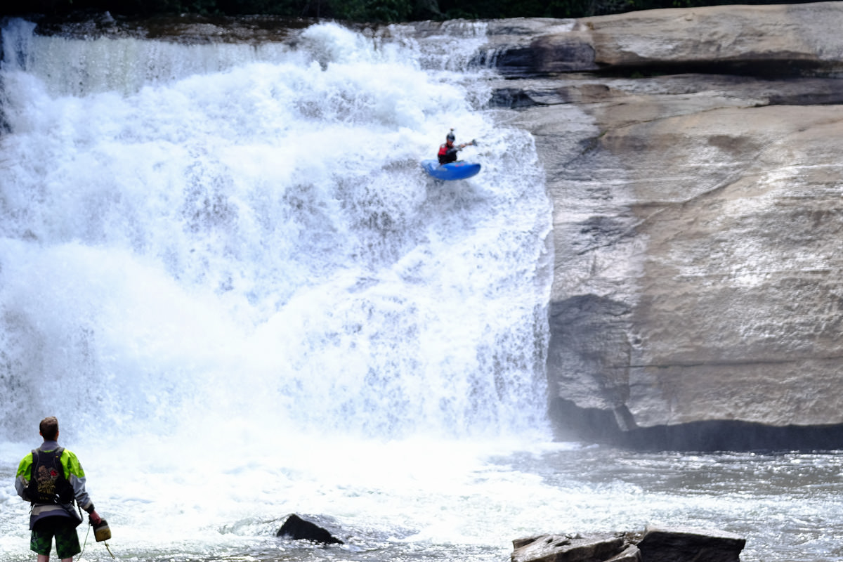 Kayaking Triple Falls at DuPont State Forest