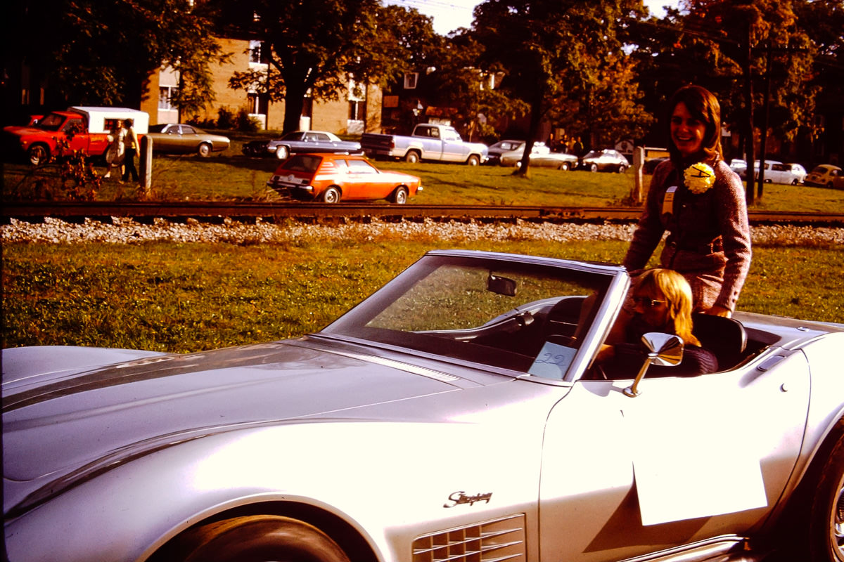 1973: Remember how I told you that Susie Matilo also went to Albion College? Here she is in the Homecoming Parade
