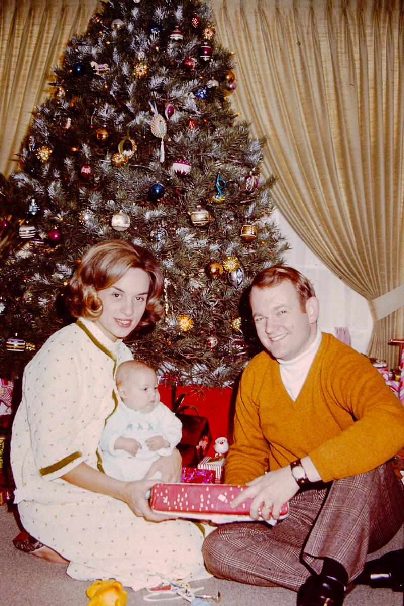 Christmas 1970: Jan, Doug, Bill