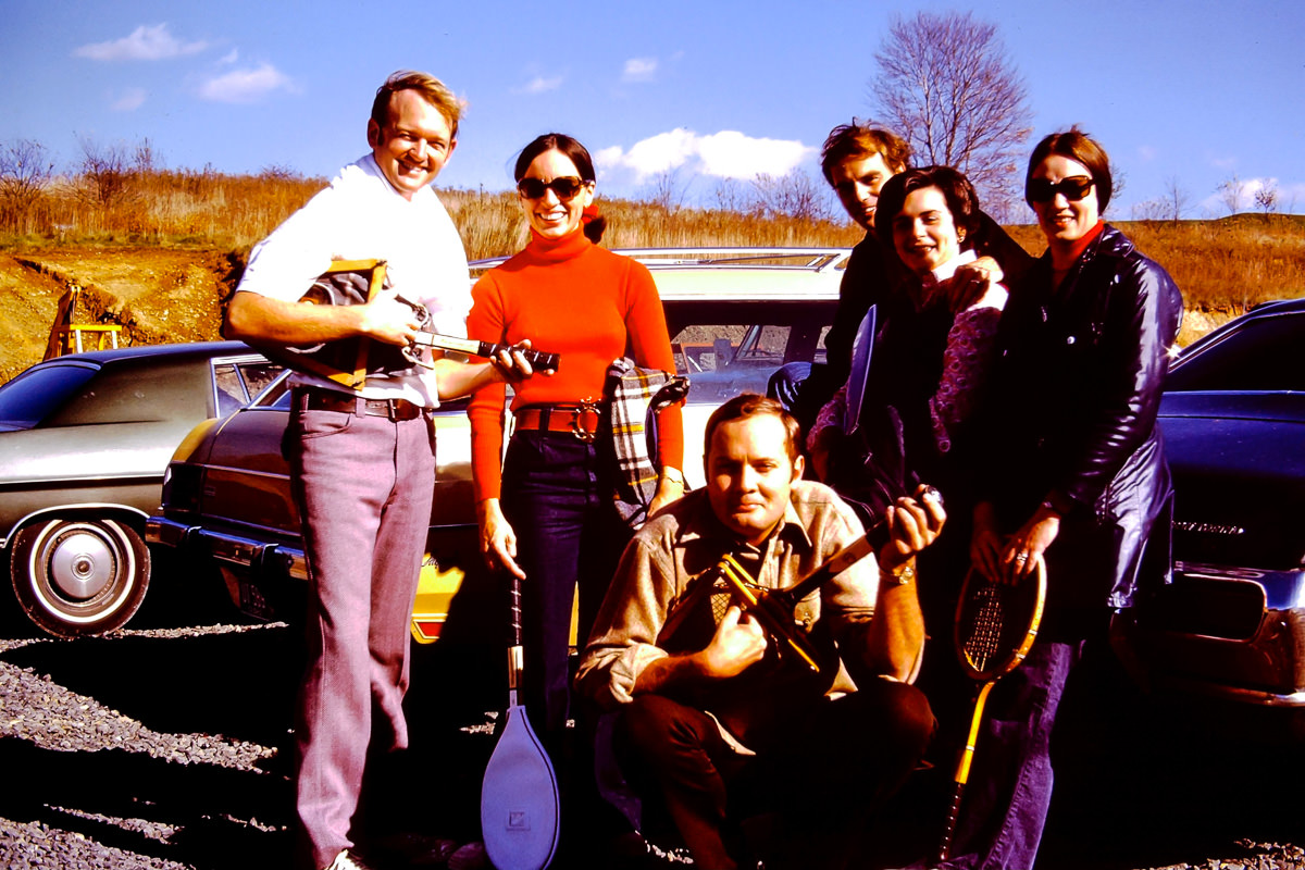 1973: Bill, Jan, Jim, Dick, Mary Lou, Sandy