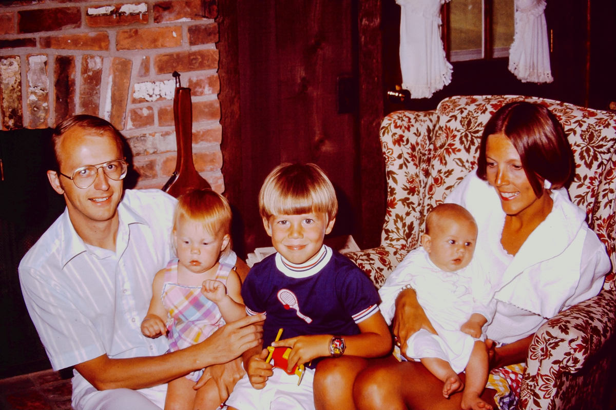 1974: Johnson, Libby Johnson, Jeff Johnson, me, Diane Johnson