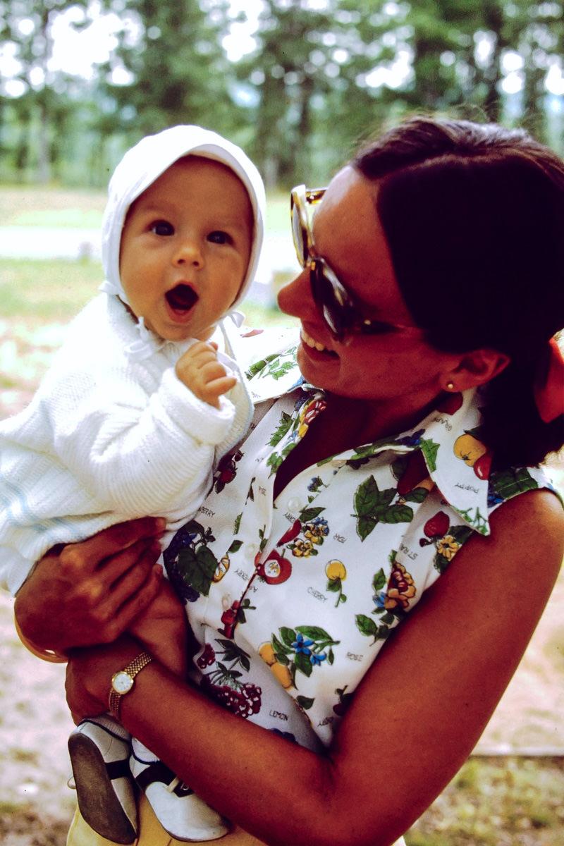 July 1974: me, Jan