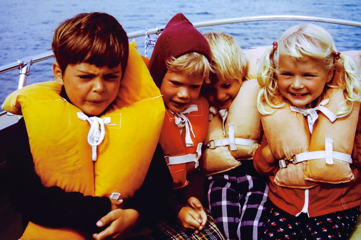 Walloon Lake 1974: Dickey, Rob, Doug, Jenny