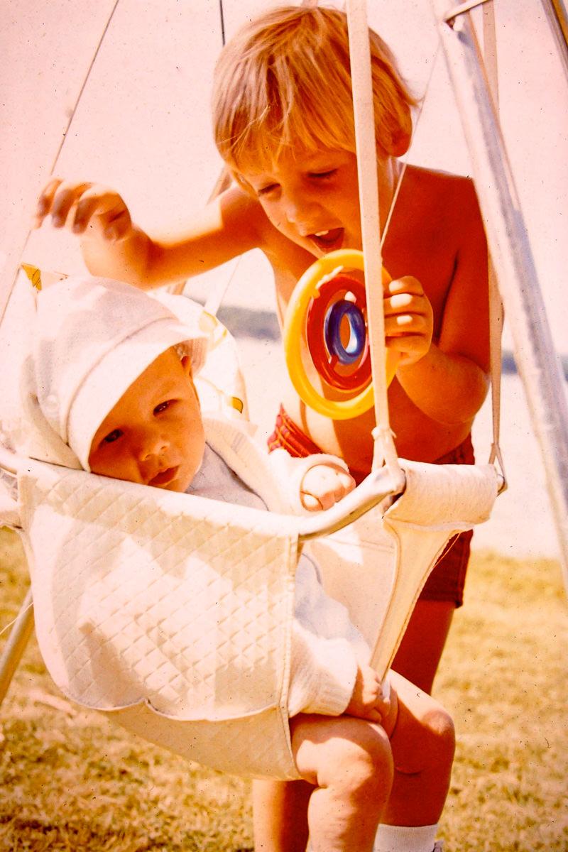 July 1974: me, Doug