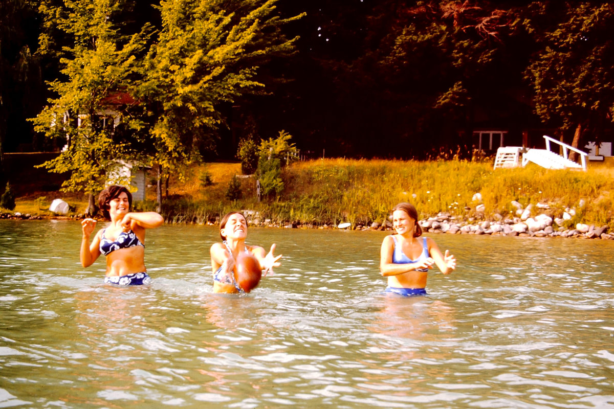 Walloon Lake 1974: Mary Lou, Jan, Sandy