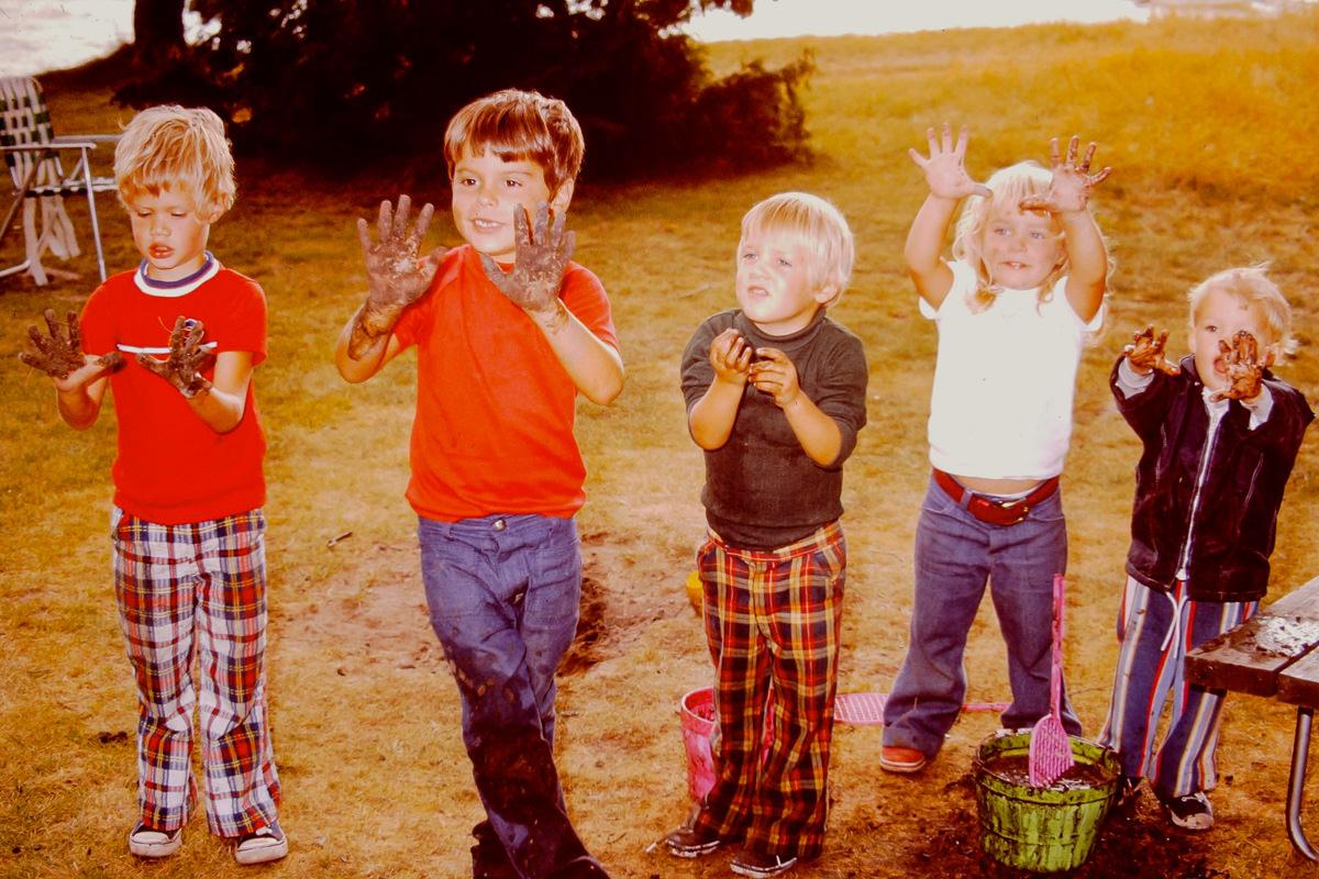 Walloon Lake 1974: Rob, Dickey, Doug, Jenny, Greg