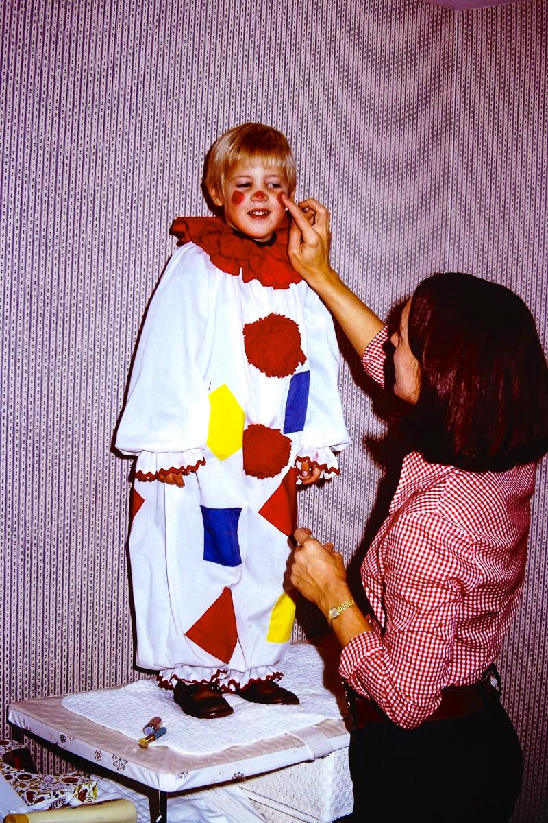 1974: Doug, Jan getting Doug's makeup all set