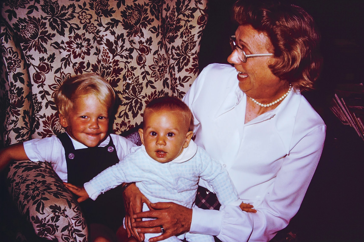 1974: Scott, me, Fran