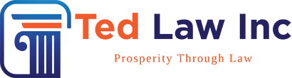 logo and tagline of Ted Law Inc's website