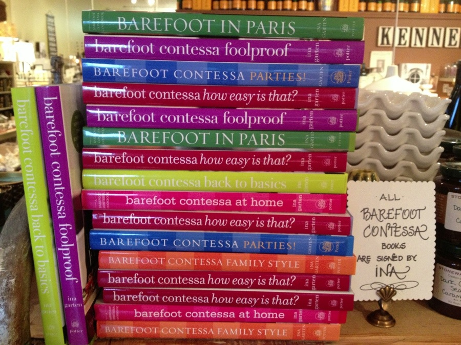 Signed Barefoot Contessa Cookbooks Ted Kennedy Watson