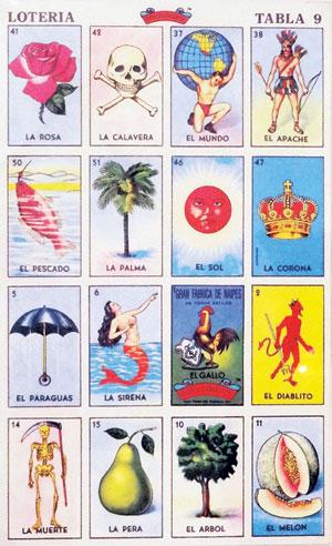 'Juego de Loten'a, Tabla #9,'Don Clemente El Gallo Pasatiempos