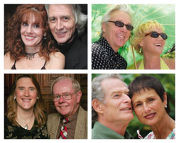 "The four real couples who are bringing their own unique interpretation to ""Love Letters"" and the weekend they are doing so are (clockwise from top left): Tracey Williams and Cecil Sutton (March 19-21); Tree Bernstein and Buddy Wilds (March 26-28); Suz Montgomery and John Hankins (April 9-11) and Lynn Van Emmerik and Bill Spellman (April 2-4)."