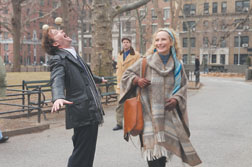 """Timothy Hutton, left, and Laila Robins share a scene in the mid-life-self-discovery-themed rom-com """"Multiple Sarcasms."""" Jessica Miglio photo"""