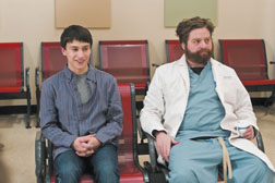 Keir Gilchrist, left, and Zach Galifianakis star in ñIt's Kind of a Funny Story.Ó K.C. Bailey Photo