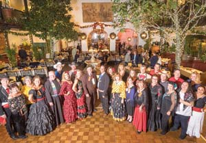 The Old Spanish Days board of directors gathers Wednesday at El Paseo. NIK BLASKOVICH/NEWS-PRESS PHOTOS