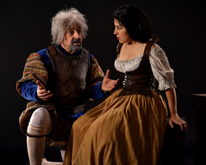 "David Studwell as Don Quixote and Julie Garnye as Aldonza in ""Man of La Mancha,"" coming to PCPA's Marian Theatre. Luis Escobar photos"