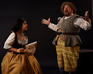 Julie Garnye as Aldonza and Leo Cortez as Sancho