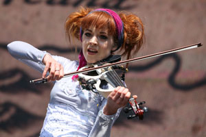 Lindsey Stirling performs Aug. 7 at Outside Lands Music Festival at Golden Gate Park in San Francisco. Rich Fury/Associated Press photo