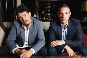 Rob Garza, left, and Eric Hilton are the duo that make up Thievery Corporation, spinning bossa nova beats and vocals with a twist.