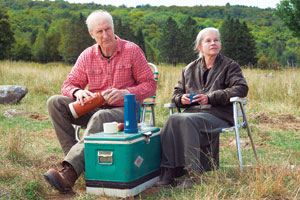 """James Cromwell, left, and Genevieve Bujold play aging farmers Craig and Irene Morrison in thefilm """"Still Mine."""" Samuel Goldwyn Films photo"""