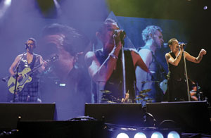 Martin Gore and Dave Gahan of Depeche Mode perform Sept. 15 during the Delta Machine Tour at the BB&T Center in Sunrise, Florida Jeff Daly photo