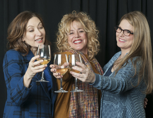 "Playing the trio of emotionally charged 40ish divorcees from ""Women in Jeopardy!"" are, from left, Annabelle Gurwitch as Jo, DeeDee Rescher as Liz and Heather Ayers as Mary. Bruce R. Burr photo"