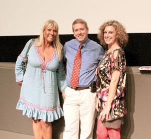 Karen McCullah, Matt Ryan and Kirsten Smith COURTESY PHOTO