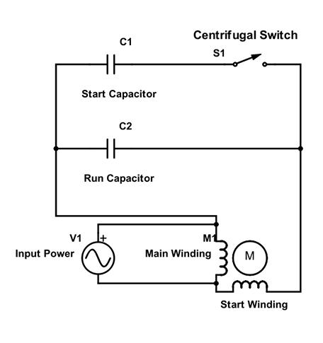 motor start and run capacitors