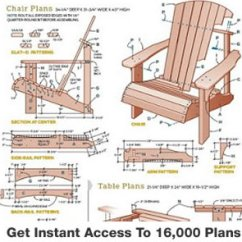 Adirondack Chair Blueprints Best Outdoor Rocking Teds Woodworking 16 000 Plans Projects With Videos Furniture