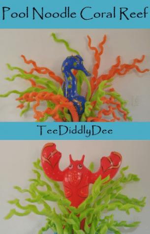 Diy Pool Noodle Coral Reef Seaweed Teediddlydeeteediddlydee