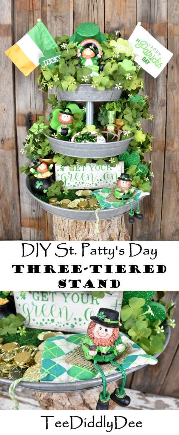 DIY St. Patty's Day Three-Tiered Stand