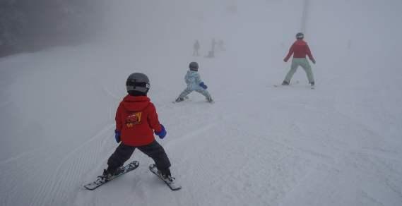 Skiing at Cypress Mountain